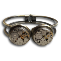 Double vintage watch bracelet