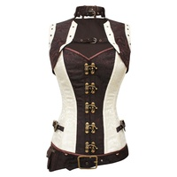 Bertram Steampunk Corset with Jacket and Pouch