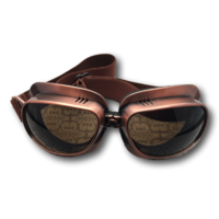Aviator copper goggles