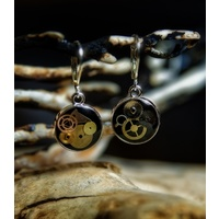 Cogs and Gears Round Earrings