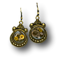Cogs and Gears Crest Earrings