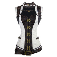 Steampunk bolero, belt and corset set