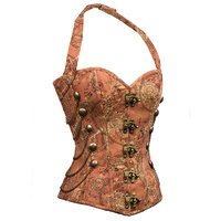 Brown Halter Steampunk Corset