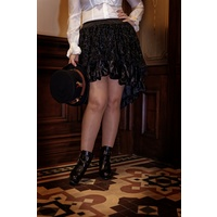 Lace and Satin High-Low Skirt