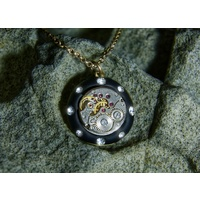 Steampunk Double-sided Tree Pendant w/ Swarovskis