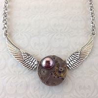 Steampunk Angel Wings Pendant