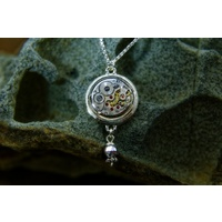 Sterling Silver Steampunk Pendant