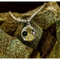 Dainty cogs and gears pendant