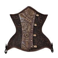 Curvy underbust corset with Steampunk embelishment