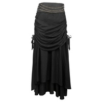 Black Steampunk Skirt