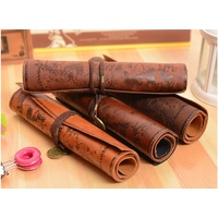 Vintage leather pencil roll