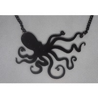 Black Octopus Pendant