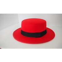 Wool Boater Top Hat