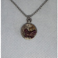 Steampunk Double-sided Pendant w/butterfly |