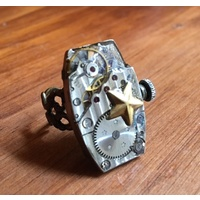 Statement Vintage Watch Ring