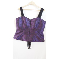 Purple and Black Soft Travel corset top