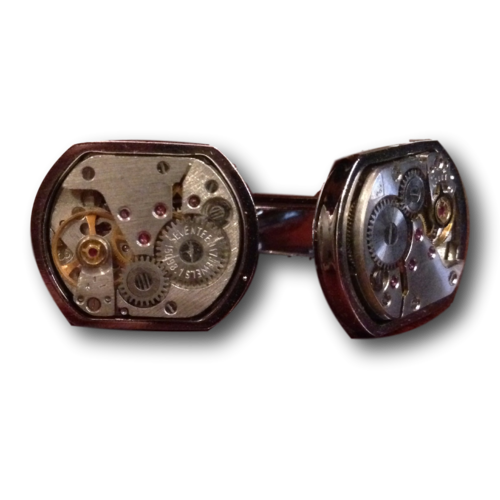 Semi-rounded Vintage Watch Cufflinks