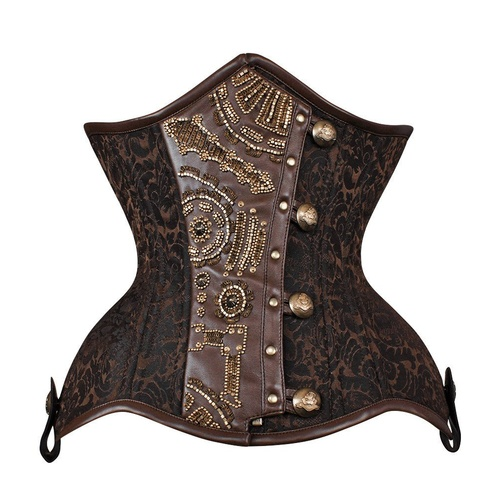 Curvy underbust corset with Steampunk embelishment [Size: 36]